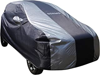 Amazon Brand - Solimo Ford Ecosport Water Resistant Car Cover (Dark Blue & Silver)