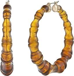 Leopard Bamboo Hoop Earrings
