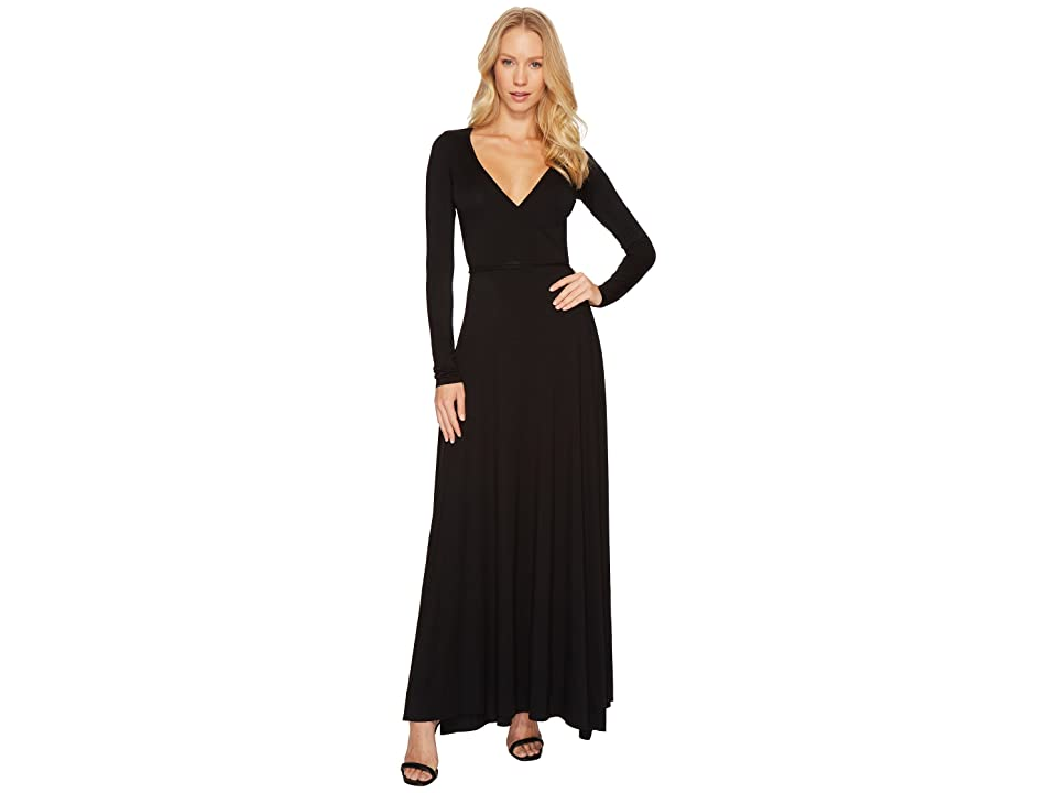 Rachel Pally Long Wrap Dress (Black) Women