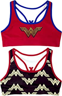 DC Comics 2-Pack Wonder Woman Girls' Seamless Bra