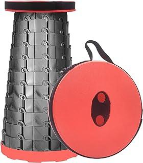 Tragbarer Teleskop-Hocker, zusammenklappbar, für Angeln, Wa