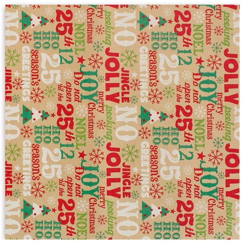 Limited time cheap sale HUYUE Christmas Green Wrapping cheap Craft Paper Decoration Gift