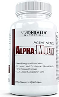Active Men's Alpha-Multi - High Performance Multivitamin Providing Complete Nutrition for Active Men, Male Health, 60 Tablets per Bottle (1 Bottle)