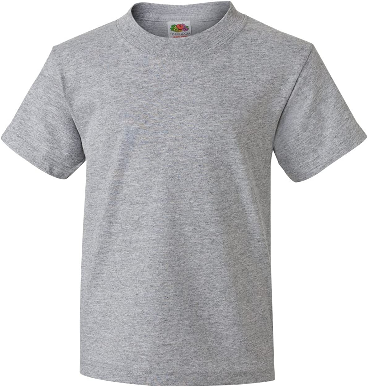 Fruit of the Loom - 5.6 oz Cotton Youth T-shirt, Athletic Heather Gry, M