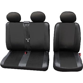 2+1 Luxus S Grau-Schwarz Bus Hochwertig Sitzbezüge Schonbezüge Für Fiat Citroen