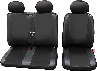 WOLTU AS7326 Auto Sitzbezüge universal Größe, 1+2 Sitzbezug Schonbezüge aus Kunstleder schwarz