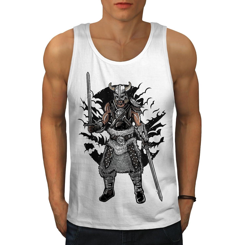 Wellcoda バイキング 戦士 ファッション 男性用 S-2XL タンクトップ