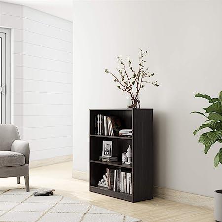 Amazon Brand - Solimo Aquilla Engineered Wood Bookcase with 3 Shelves (Wenge)
