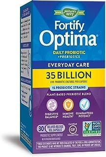 Nature's Way Once Daily Fortify Optima 14 Probiotic Strains True Potency 35 Billion CFU, 30 Vegetarian Capsules (Refrigera...