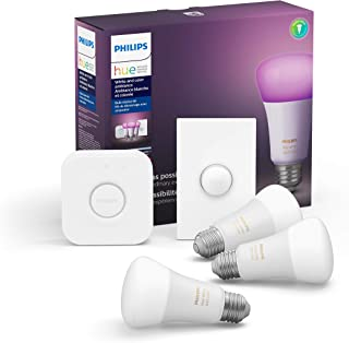 Philips Hue White and Color LED Smart Button Starter Kit,...