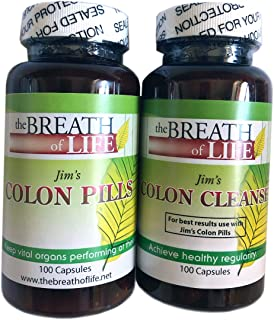 Jim Foley's Colon Health Herbal Capsules- Weight Loss Assist, Energy Enhancer, Digestive Support, Helps with Constipation Relief(100 Capsules)