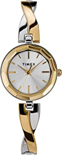 Timex Women's Dress 26mm Watch – Two-Tone with Gold-Tone Accents & Bracelet