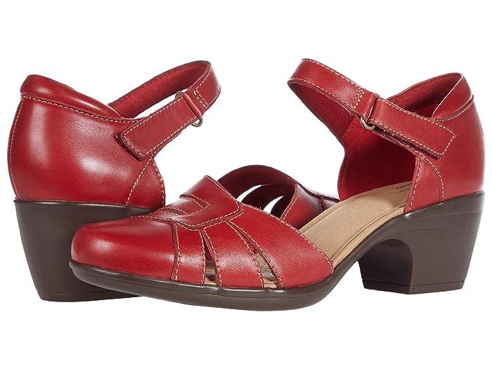 1950s Shoe Styles: Heels, Flats, Sandals, Saddle Shoes Clarks Emily Daisy Womens Shoes $69.75 AT vintagedancer.com