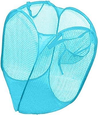 Foldable Laundry Basket Hamper Washing Clothes Bag Mesh Storage (Set of 2)