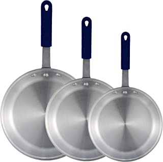 Tiger Chef Frying Pan Set - Commercial Aluminum Restaurant Fry Pans skillets - 7 Inch, 8-Inch, 10 in. Cookware Set with Silicone Sleeve Commercial Grade
