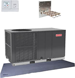 Goodman 3 Ton 14 seer Heat Pump Package Unit GPH1436H41 Prog. Tstat+Equip Pad