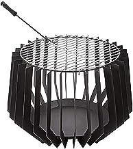PFTHDE Canasta para Hoguera, 60 cm x 60 cm x 40 cm Estufa de calefacción para Patio Estufa de Metal para jardín al Aire Libre para Acampar, Picnic, Estufa de jardín