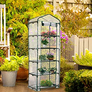 Worth 5 Tier Mini Greenhouse with Clear Polyethylene Cover, 27