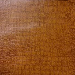 Alligator Chestnut Color Upholstery Leather Vinyl Fabric Sold Per Yard (Luvfabrics) Ships Rolled
