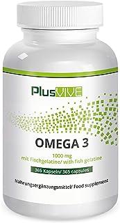 Plusvive - 365 cápsulas de omega 3 con recubrimiento de