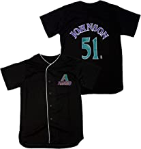 Mighty Mac Arizona Diamondbacks Randy Johnson #51 MLB Big Boys Vintage Replica Jersey, Black