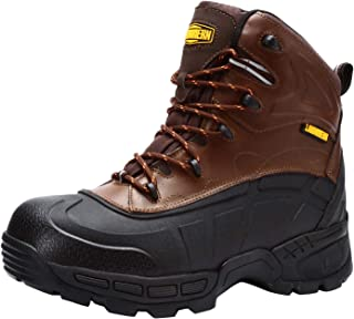 LARNMERN Work Boots Men Steel Toe Indestructible Safety Shoes Heat Resistant Women Non-Slip Lightweight Anti-Static Anti-Piercing Outdoor Hiking Boots