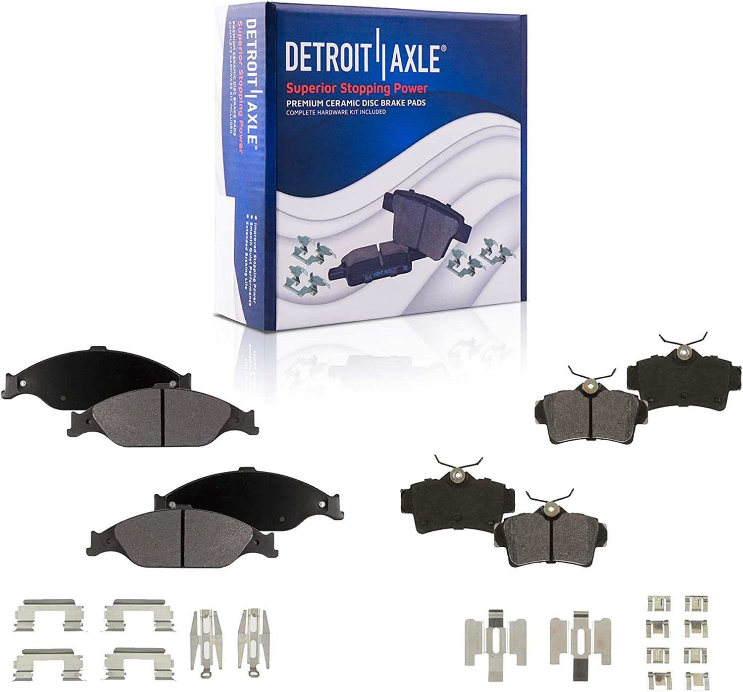 Detroit Axle Front Rear Ceramic Replacement Pads New life for 1999-2004 At the price