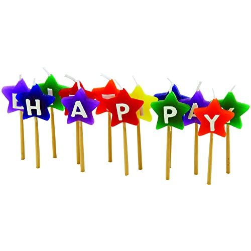 Tala Happy Birthday Coloured Star Candles