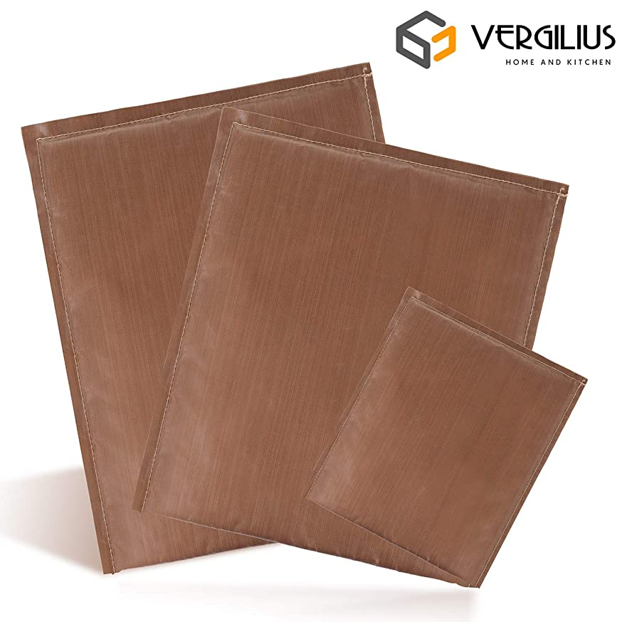 VERGILIUS Teflon Pillows 3 Pack 3 Sizes Heat Press Pillow Heat Pressing Transfer Pillow, Reusable Heat Resistant for Heat Press Digital Transfer
