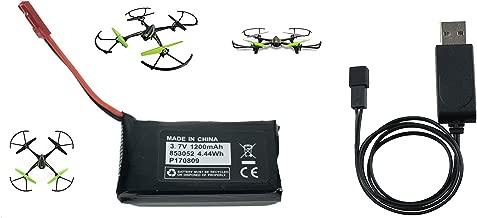 Sky Viper V2400HD V2450FPV V2450GPS Scout Journey Drones Compatible Battery 3.7v 1200mAh High Capasity and Charger Set