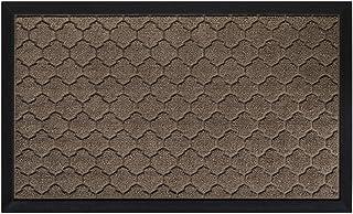 Gorilla Grip Original Durable Natural Rubber Door Mat, Waterproof, 23x35, Low Profile, Heavy Duty Doormat for Indoor and O...