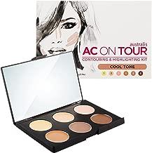 Australis AC ON TOUR Cool Tone Complexion Cream Highlight Natural Glow Makeup Contour Kit