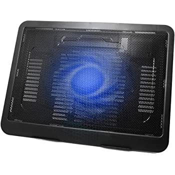 Black, OneSize Laptop Cooling Pad,Portable Slim Quiet USB Adjustable Laptop Cooling Mat with Fan