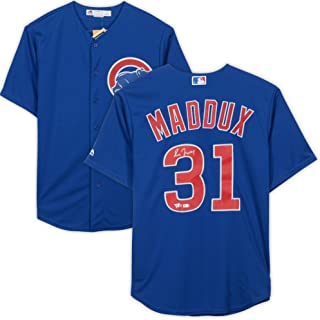 Greg Maddux Chicago Cubs Autographed Blue Replica Jersey - Fanatics Authentic Certified - Autographed MLB Jerseys