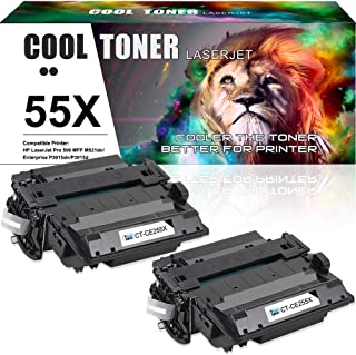 Cool Toner Compatible Toner Cartridge Replacement for HP 55A CE255A 55X M521dn for HP Laserjet Pro 500 MFP M521DN M525DN M521DW M525f HP Laserjet P3015dn P3010 P3015x P3015 P3015d P3015n P3016 Printer