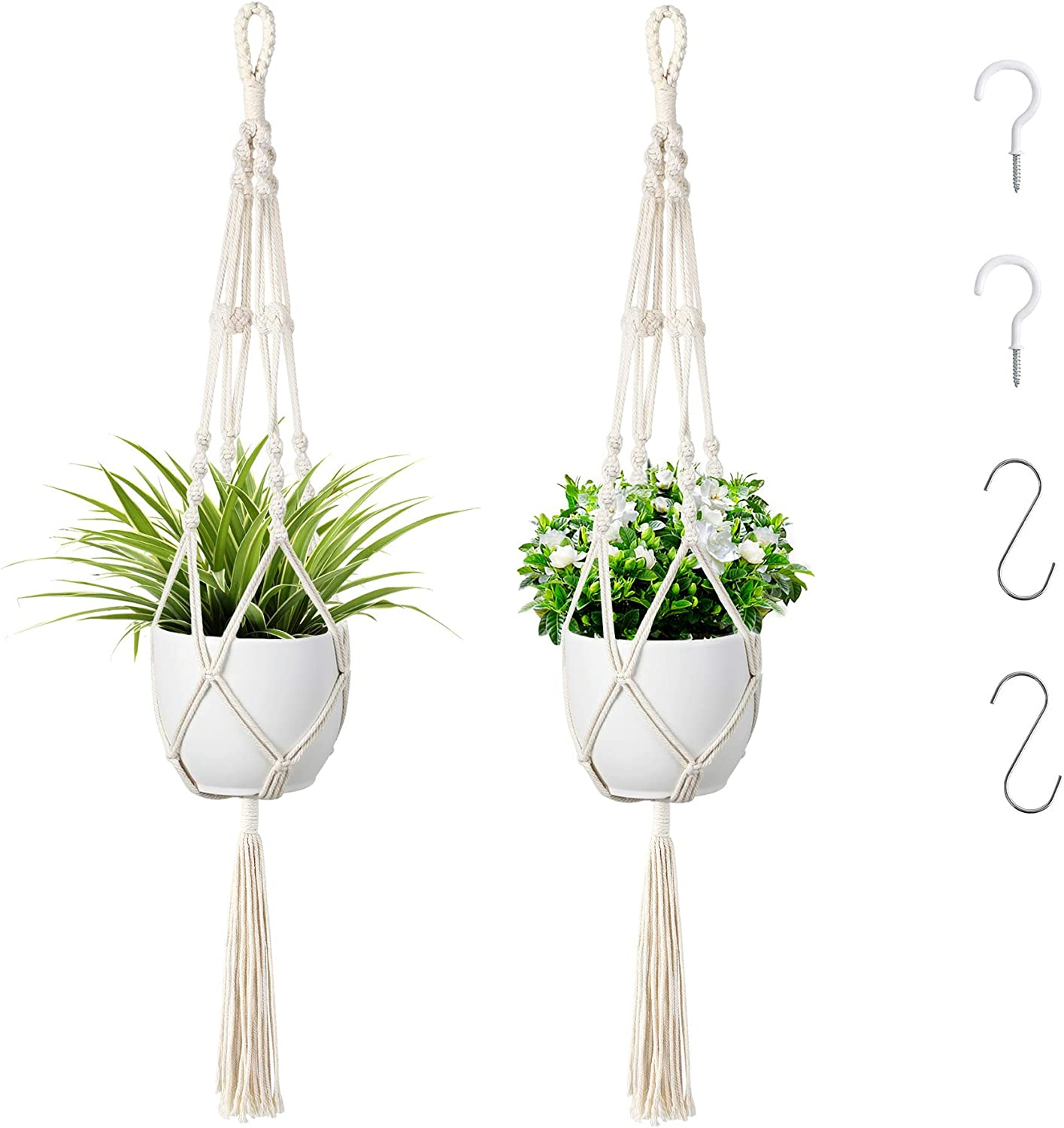 2 Pcs Plant Hangers Max 75% OFF Hanging Deco Holder Recommendation Indoor for Outdoor