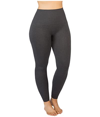 Spanx Plus Size Look at Me Now Seamless Leggings (Heather Charcoal) Women