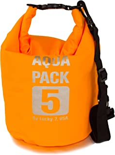 Light Durable Waterproof Dry Bag, Roll Top Utility Sack with Shoulder Strap, 5L 10L