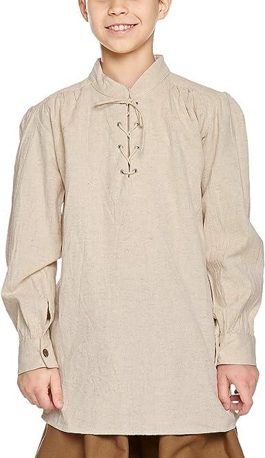 Camisa medieval infantil - traje de criado, caballero o rey ...
