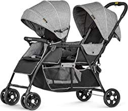 besrey Double Stroller for Infant and Toddler, Lightweight Tandem Baby Stroller, Easy Foldable, Compact Travel Twin Stroll...