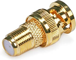 Monoprice 104125 BNC Male to F Female Adaptor, Gold Plated