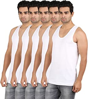RVB Fashions Men's Cotton Vest Sleeveless (Pack of 5)