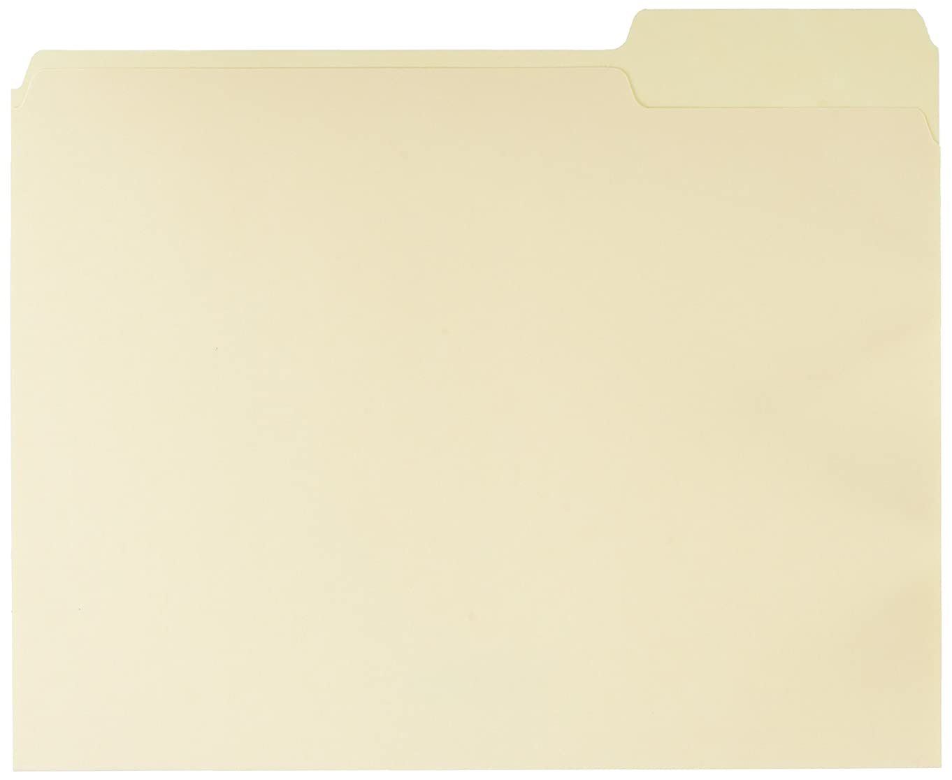 AmazonBasics File Folders with Reinforced Tab - Letter Size (100 Pack) – Manila