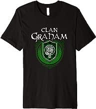 Graham Surname Scottish Clan Tartan Shield Badge Tshirt