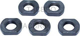 US-Deals 1/2x28 Thread Crush Washer Replacement Jam Nut Muzzle Device Locking and Position Adjustement, All Steel, Black Steel, 5PC Pack