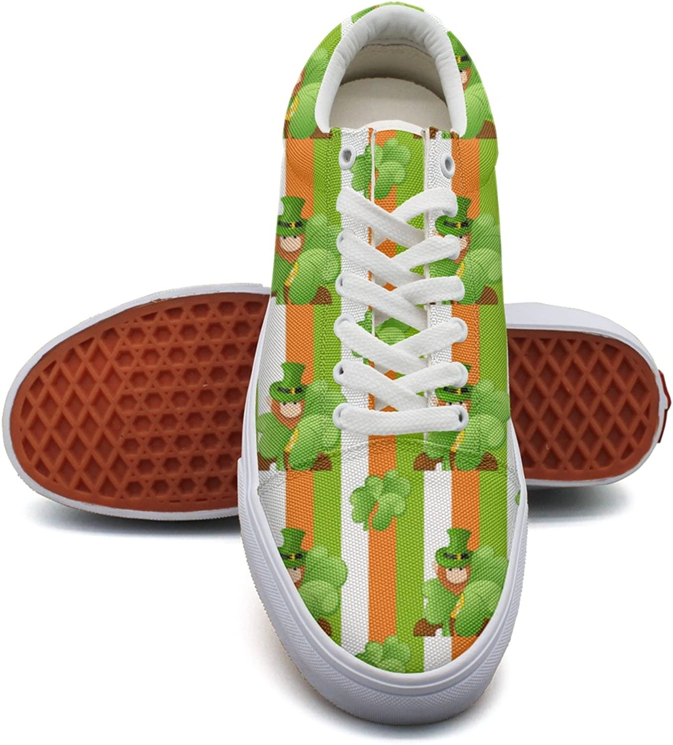 Shamrock Flag Green Womens Navy Canvas Running shoes Low Top Popular Athletic Sneakers for Woman