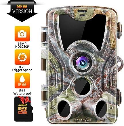 Crenova 16MP 1080P HD Trail Camera with 32GB Micro Card...