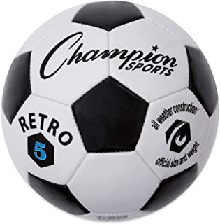 Champion Sports Retro Soccer Ball - Sizes 3, 4, 5