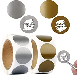 600Pcs/2Rolls Round Scratch Off Stickers 25mm(1 inch) Circle Self-adhesive Lable Stickers for DIY Wedding Party Supplies G...