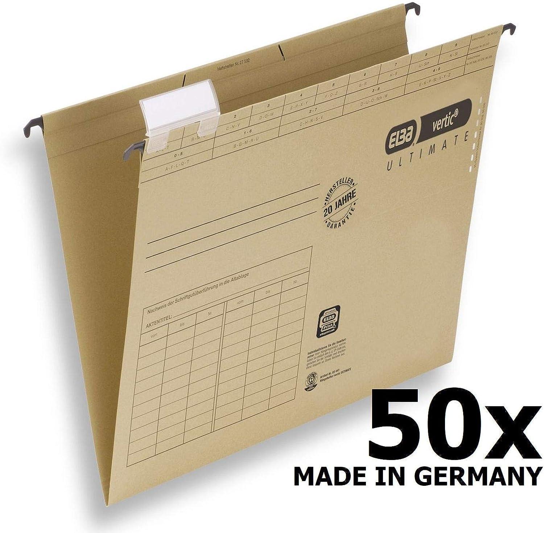 ELBA 100560135 Hängemappe Grünic ULTIMATE 50er Pack aus Recycling-Karton für DIN A4 seitlich offen braun Blauer Engel ideal für die lose Blatt-Ablage im Büro und der Behörde B00D78967K   Sonderaktionen zum Jahresende